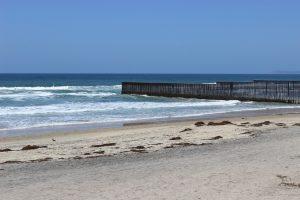 US - Mexico border - beach