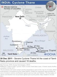 Path of Cyclone Thane