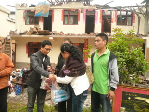 Members of local church responding to Sichuan Earthquake. Credit: CCC