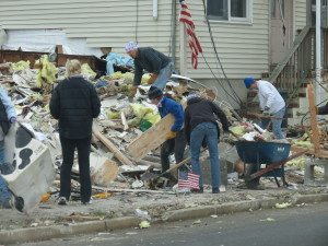 nj damage clean up - hurricane sandy