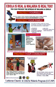 Ebola poster from Liberia