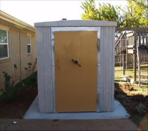 Pictured: A Storm Shelter Is Installed On A Slab In A Familyu0027s Backyard.
