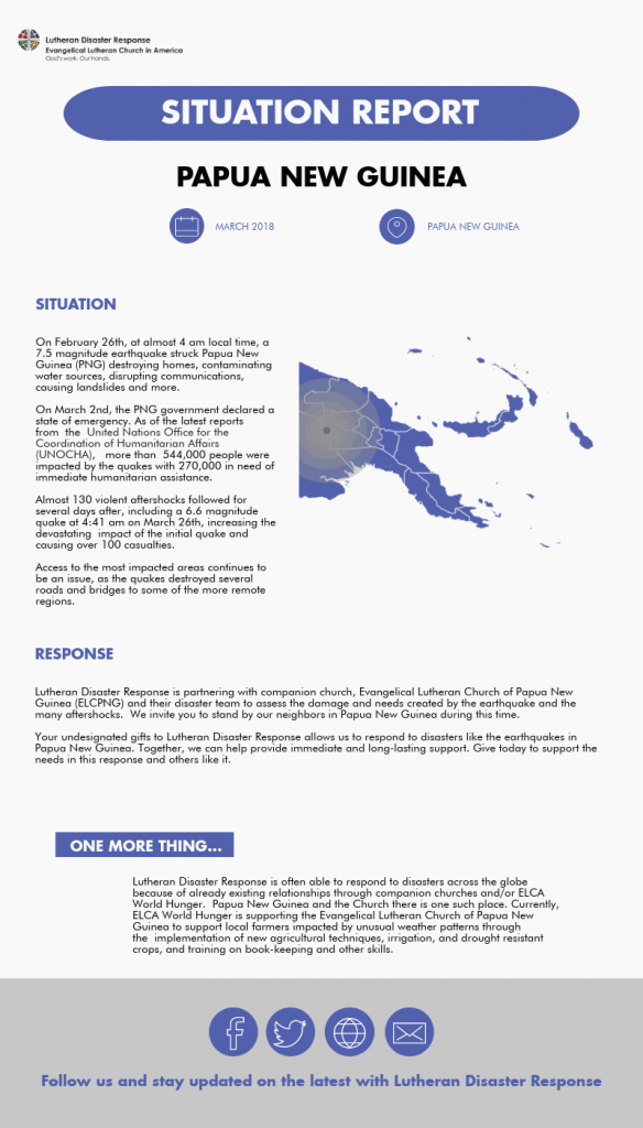 Lutheran Disaster Response » Blog Archive Situation Report: Papua ...