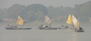 Fishing boats on Ganges