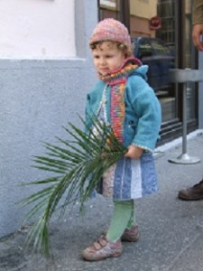 The children carried palm branches.