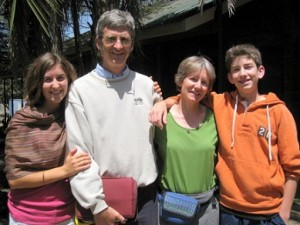 Kristopher and Rebecca Hartwig, shown with Heidi and Nathan, will conclude their service in Tanzania in July.