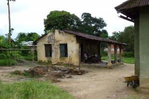 A typical house in Liberia.