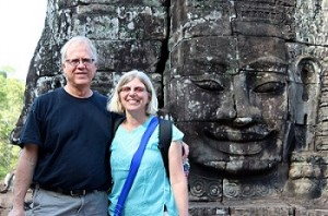 ELCA missionaries Wayne Nieminen and Christa VonZychlin in Cambodia.
