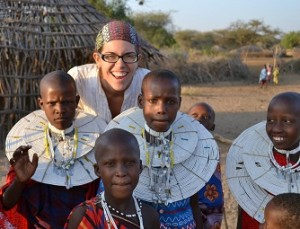 Megan Nuehring saw close-up the results of the women's bead project in Tanzania.