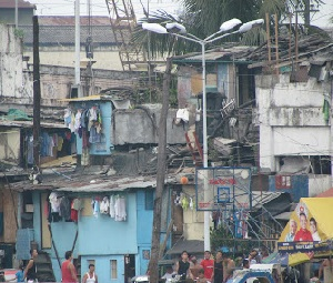 Poverty in urban Manilla.