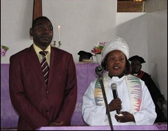 Recently ordained Pastor Rita and her husband.