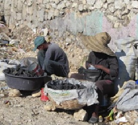 Charcoal vendors in Haiti provide many people the fuel they need to heat and cook.