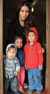 Among those being supported in Chile by EPES are Fabiola and her children. They have been living in an emergency camp since the 2010 earthquake.