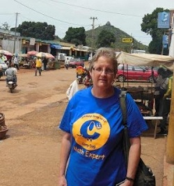 Susan Smith on on a main street of N'gaoundere, Cameroon.