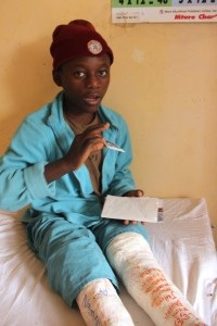 A patient at the Arusha Lutheran Medical Centre.