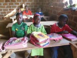 Students use a classroom provided by the Village School Program.