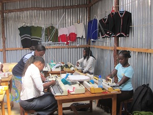 The knitting school helps its students become more self-sufficient.