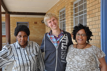 A deputy principal and a teacher with Kaleb.Sutherland, who was a 2012-13 Young Adults in Global Mission volunteer in South Africa.