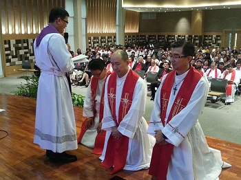The Lutheran Church in Malaysia ordination of Marcus Leong, CK Lee and Peter Lee.
