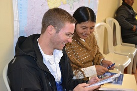 The Rev. Justin Eller at work in Bolivia.