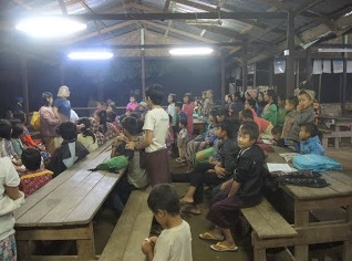 A refugee camp filled with Kachin State children.