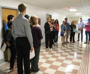 Bethel tour in hallway