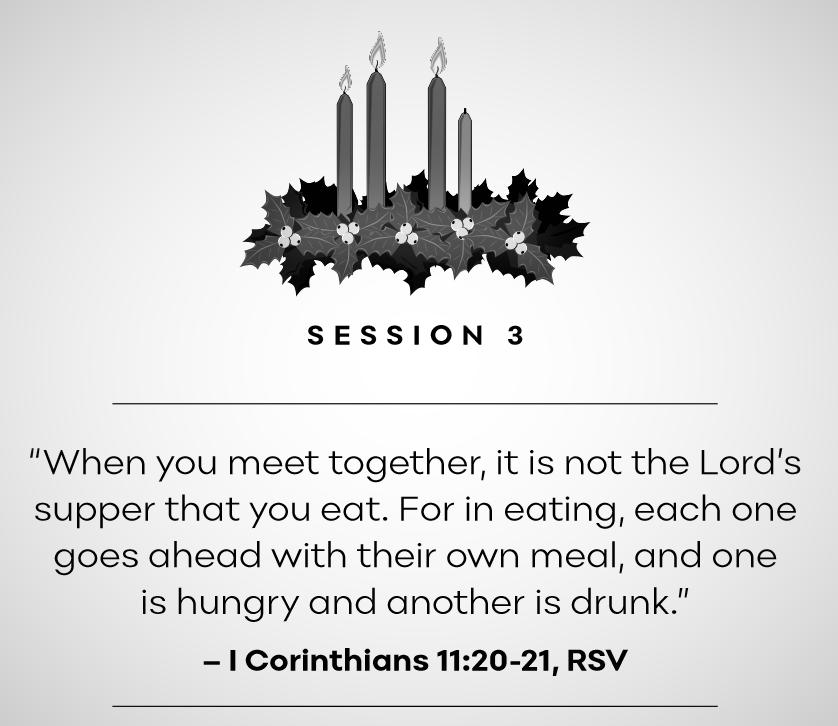 Session 3: 1 Corinthians 11:20-21