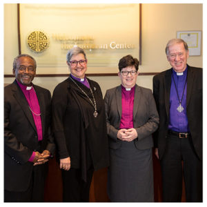 10.13.16 - Chicago, Illinois - Bishop Elizabeth Eaton meets with members of the Evangelical Lutheran Church in Canada (ELCIC), Anglican Catholic Church (ACC) and The Episcopal Church (TEC) at the ELCA Churchwide Office in Chicago.