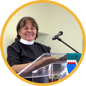 the Rev. Joann Conroy, President of the ELCA American Indian/Alaska Native Lutheran Association